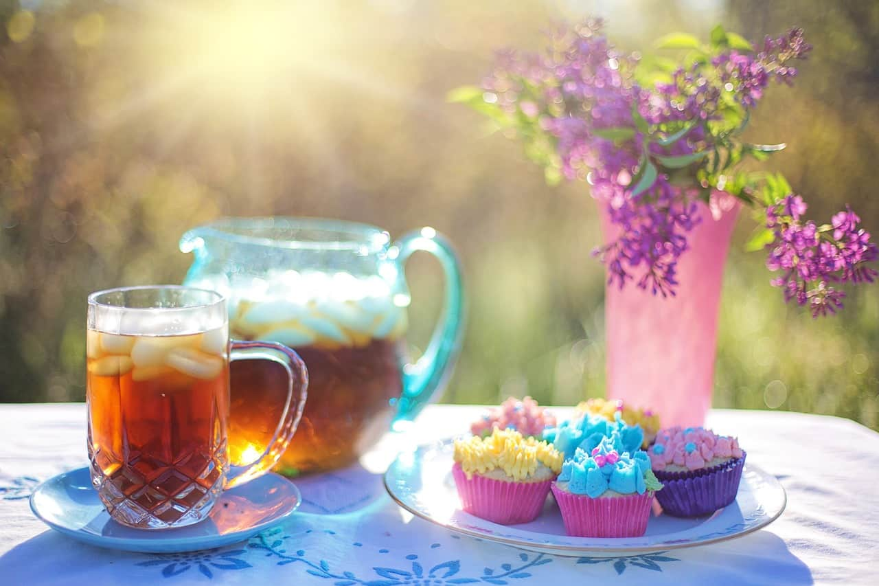 iced-tea tea summer cupcakes