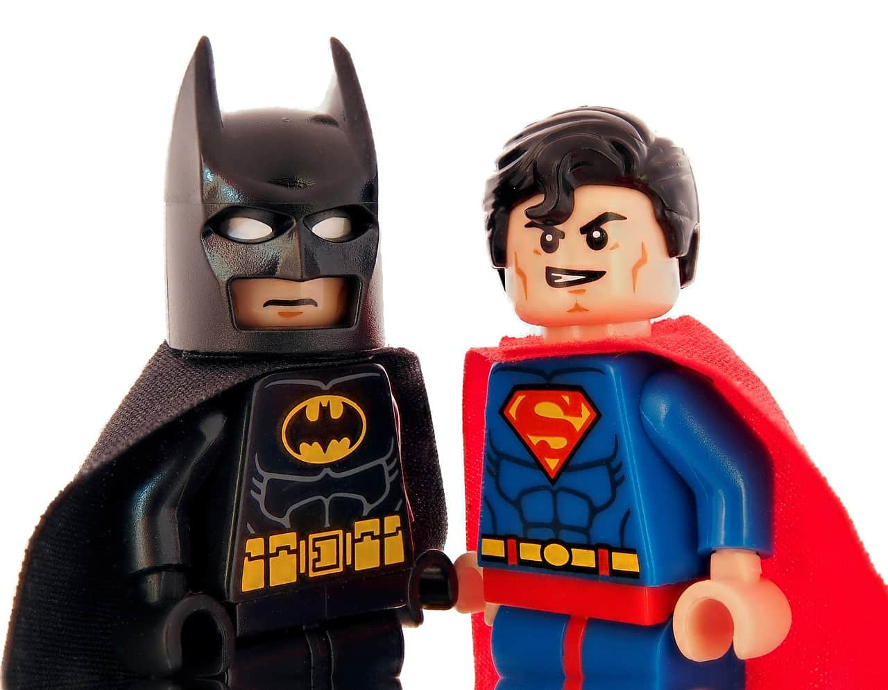 super-hero batman superman lego