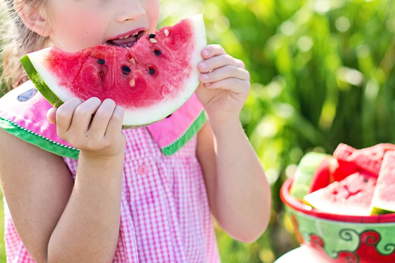 National watermelon day,                 watermelon summer little girl eating watermelon