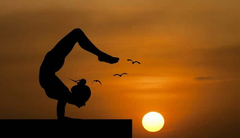 National handstand day,                 yoga balance nature