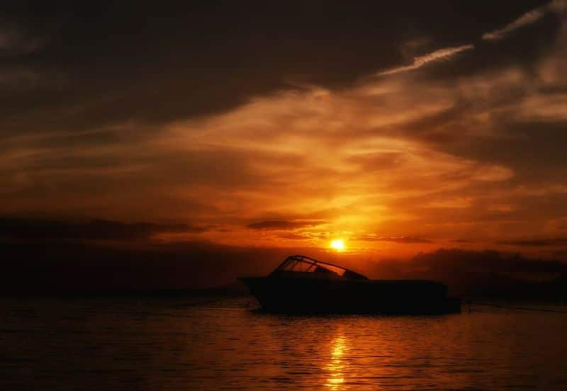margarita island sunset boat