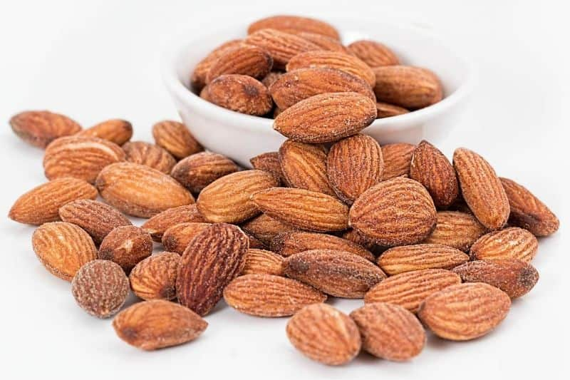 nut almonds nuts roasted